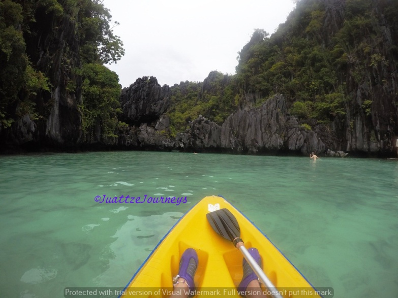 Kayaking in Small Lagoon, Palawan