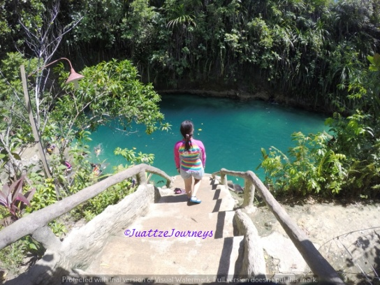 Swimming at Enchanted River, Surigao del Sur
