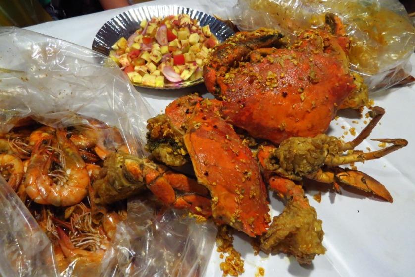 Blue Post's Chili Garlic Crabs in Davao