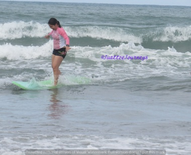 Surfing at Baler