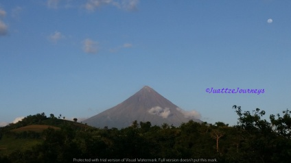 Mayon view from hilltop